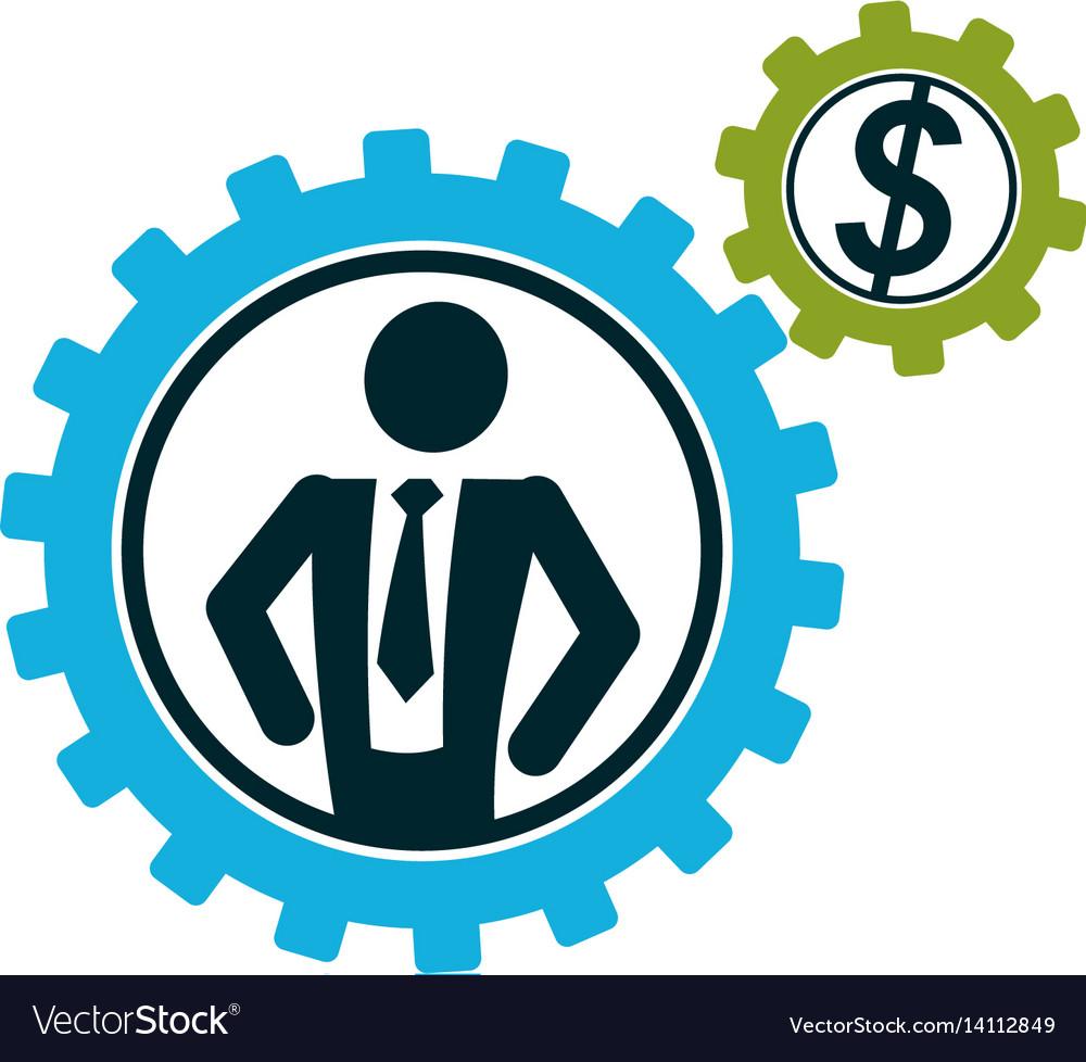Successful businessman creative logo conceptual