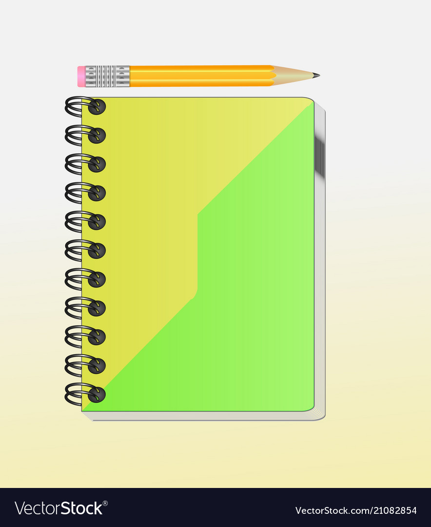 A note book with lots of room for your text or ima