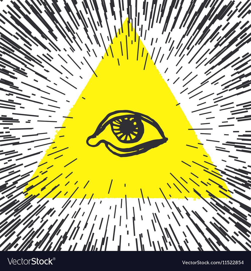 All seeing eye pyramid Freemason and spiritual