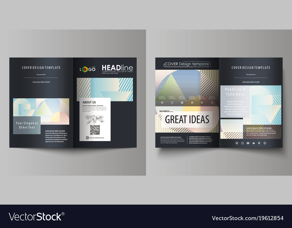 Business templates for bi fold brochure magazine vector image flashek Choice Image