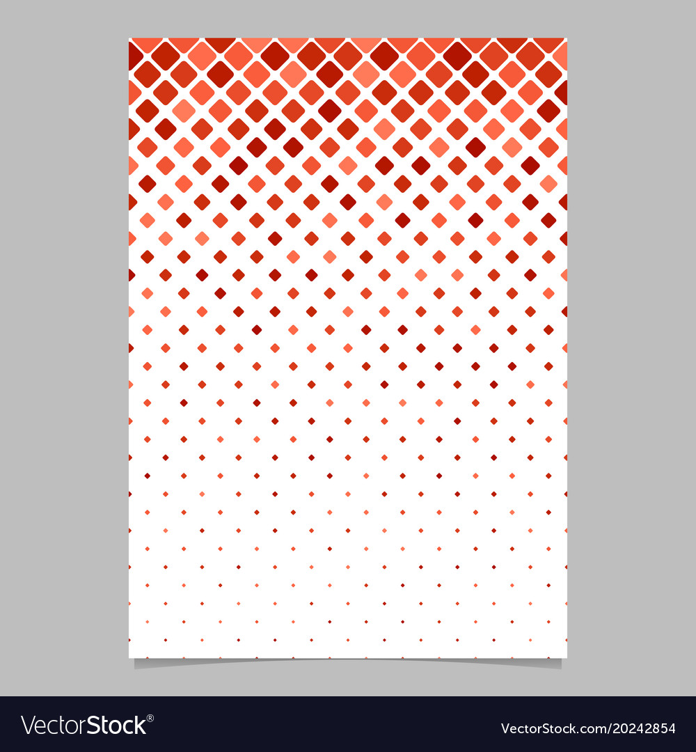 Geometrical pattern brochure design - mosaic vector image