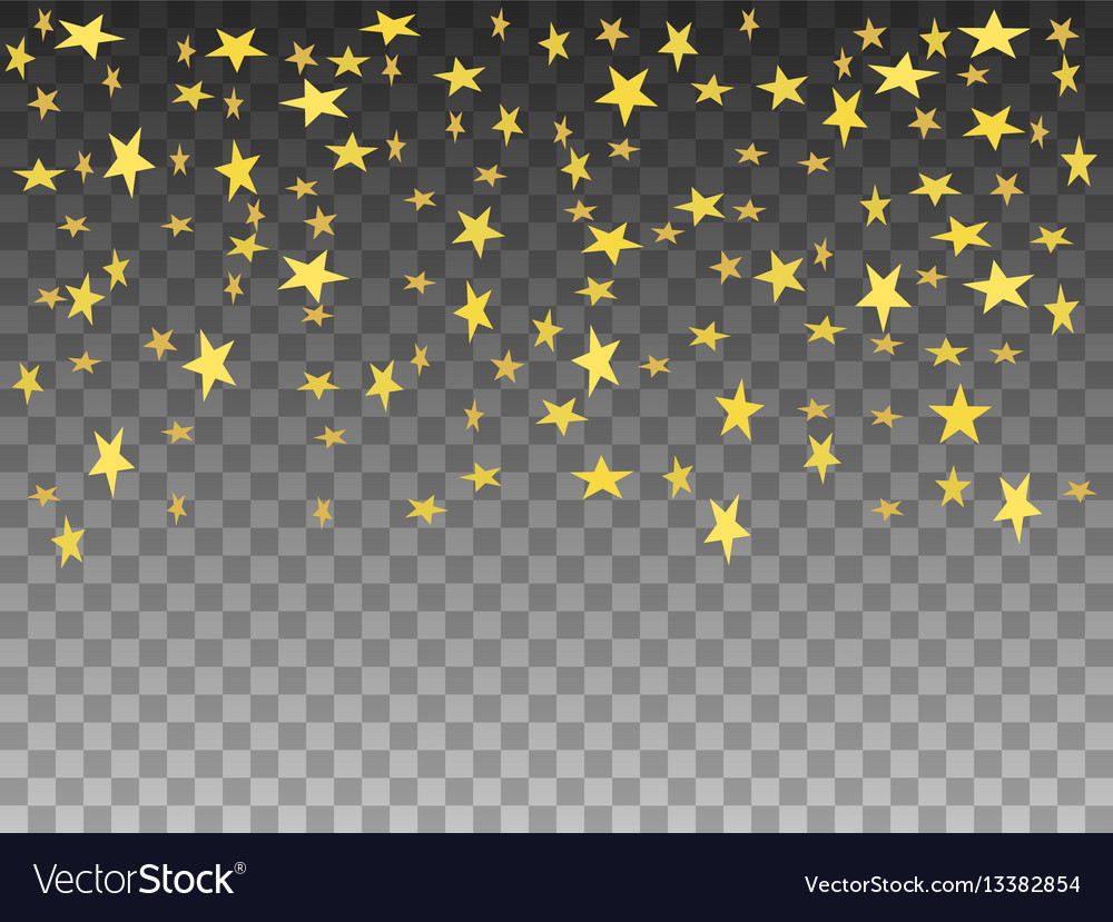 Golden objects falling stars