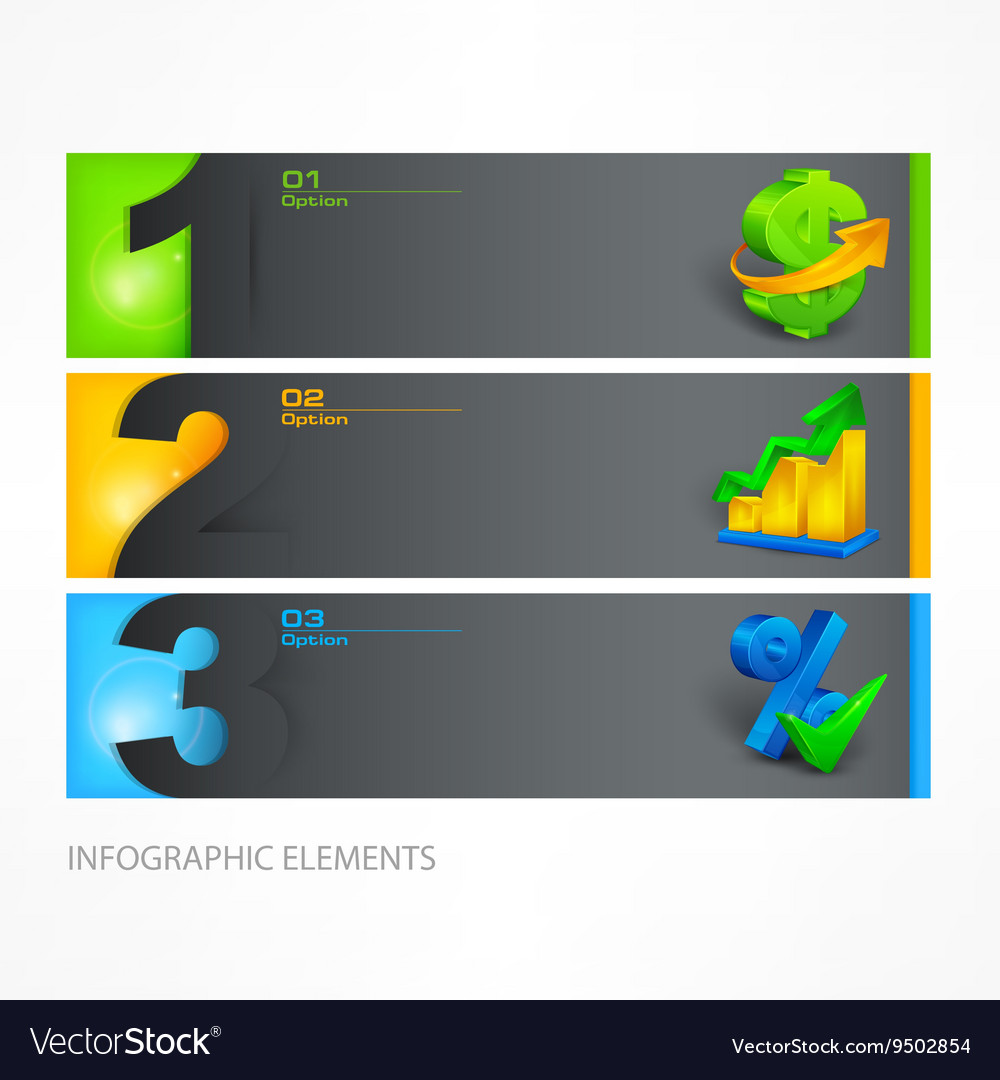 Infographic template color vector image