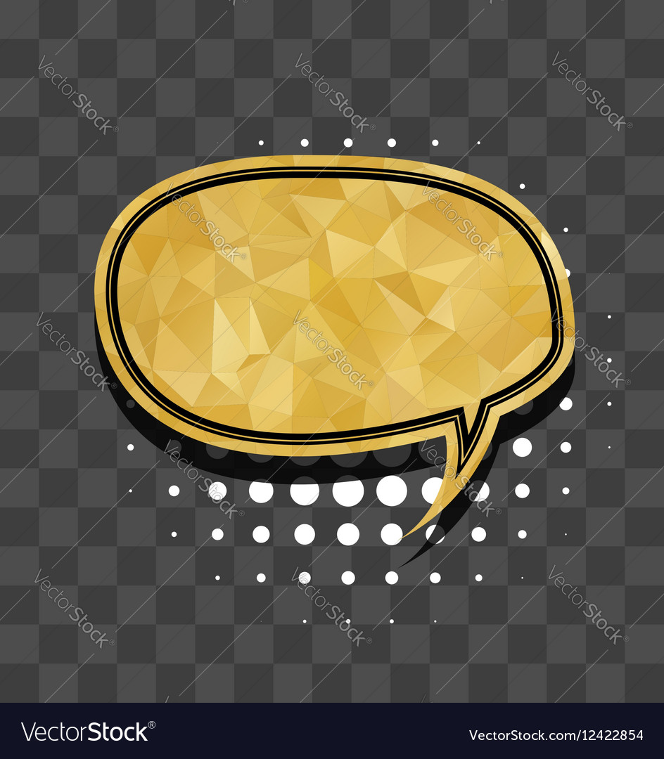 Oval gold sparkle comic text bubble