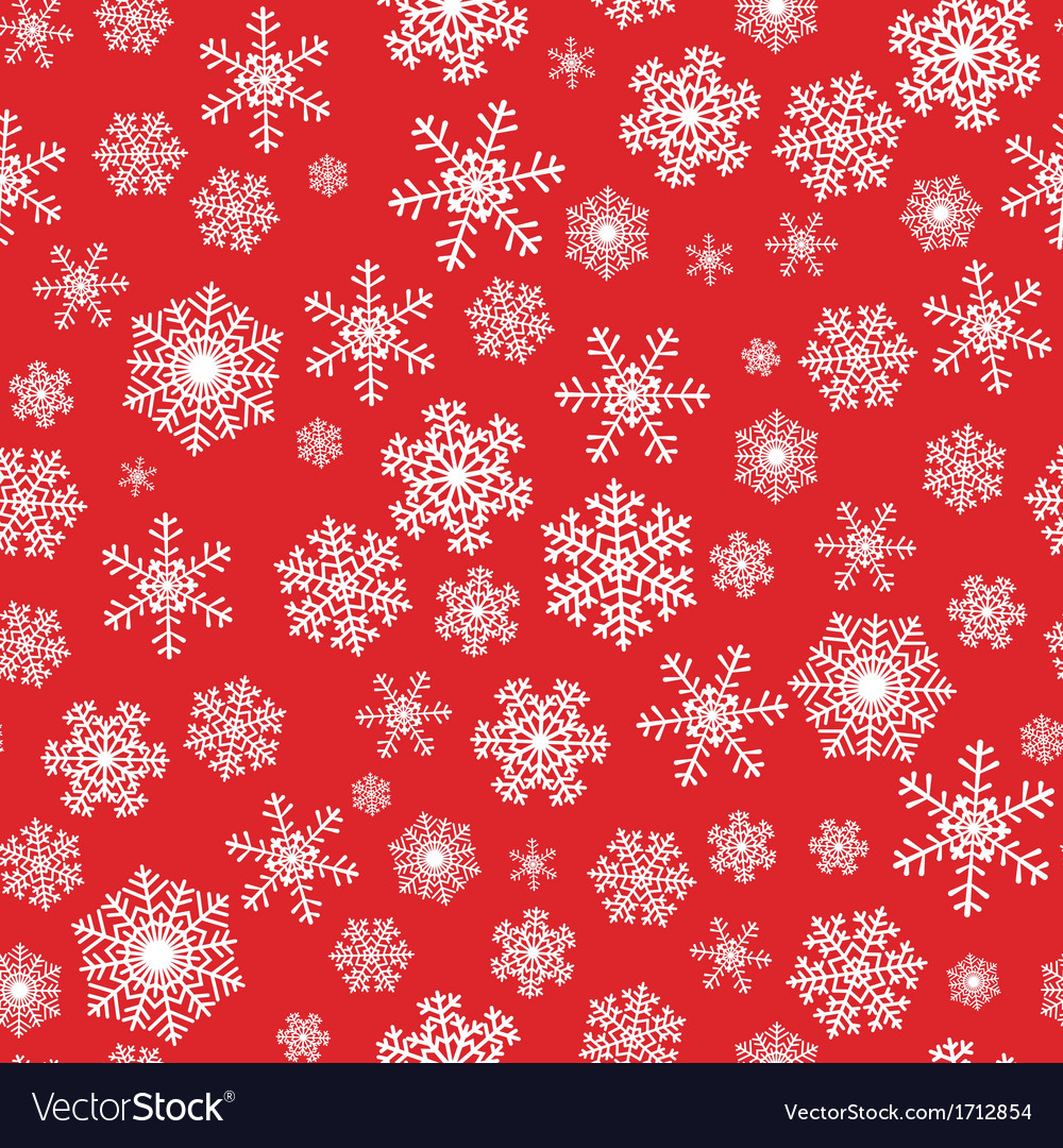 red seamless background with snowflakes royalty free vector