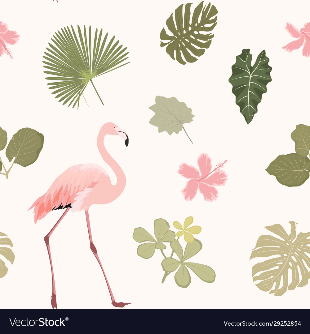 Tripical pattern wiht flamingo