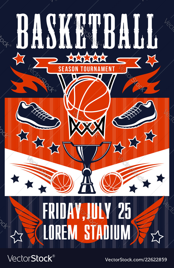 Basketball sport game basket and ball