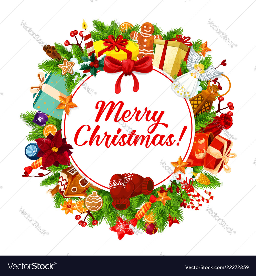 Christmas banner xmas greeting card decoration Vector Image