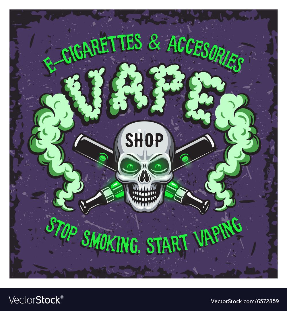 Colour of vape smoking