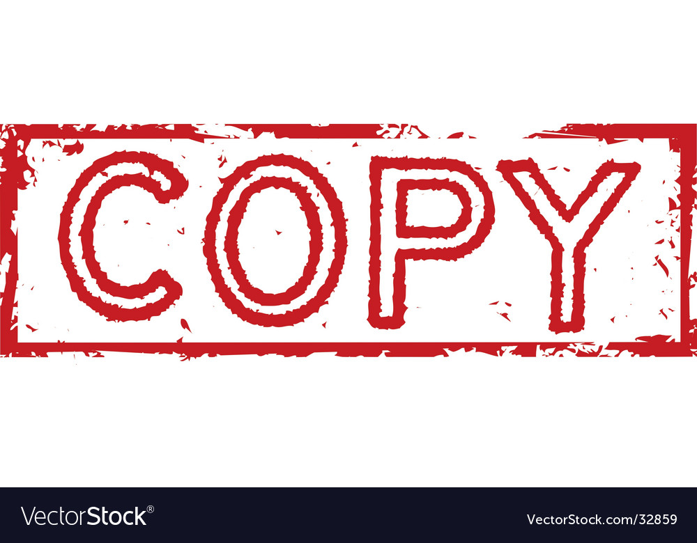Copy Stamp Label Vector Image
