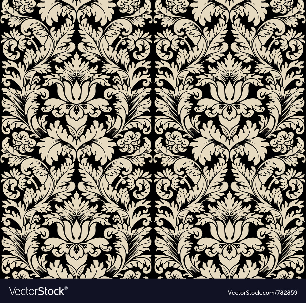 Damask semless silk