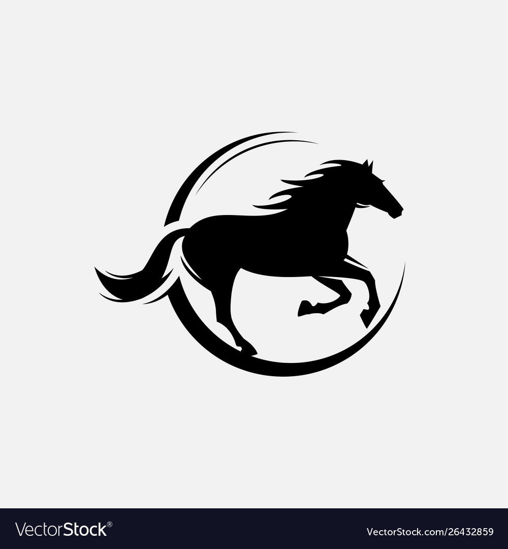 Horse Racing Logo Template Royalty Free Vector Image