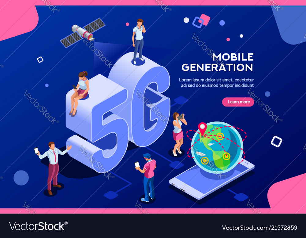Mobile generation isometric banner