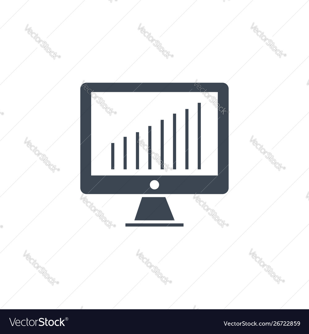 Monitor related glyph icon