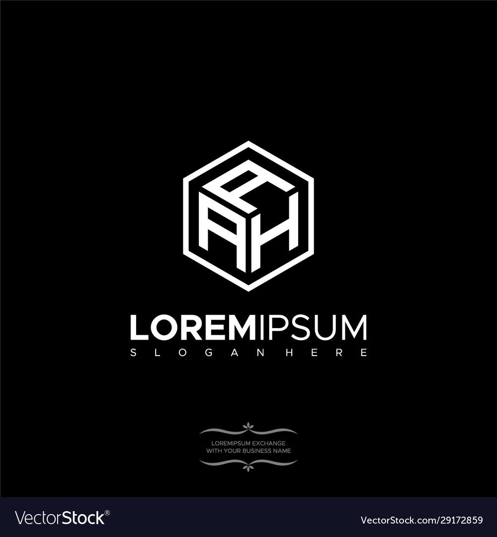 Premium initial aah geometric polygon letter logo