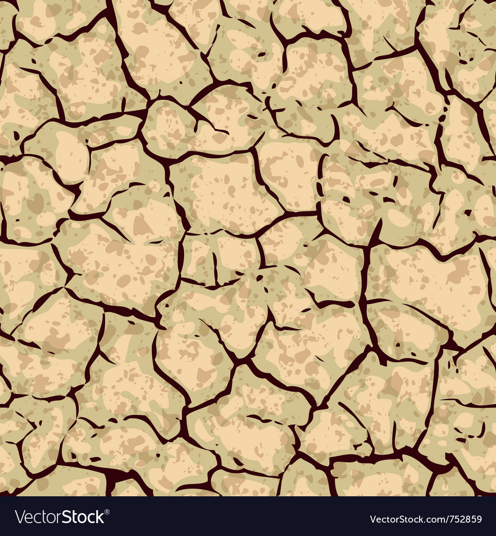 seamless cracked ground background pattern vector image
