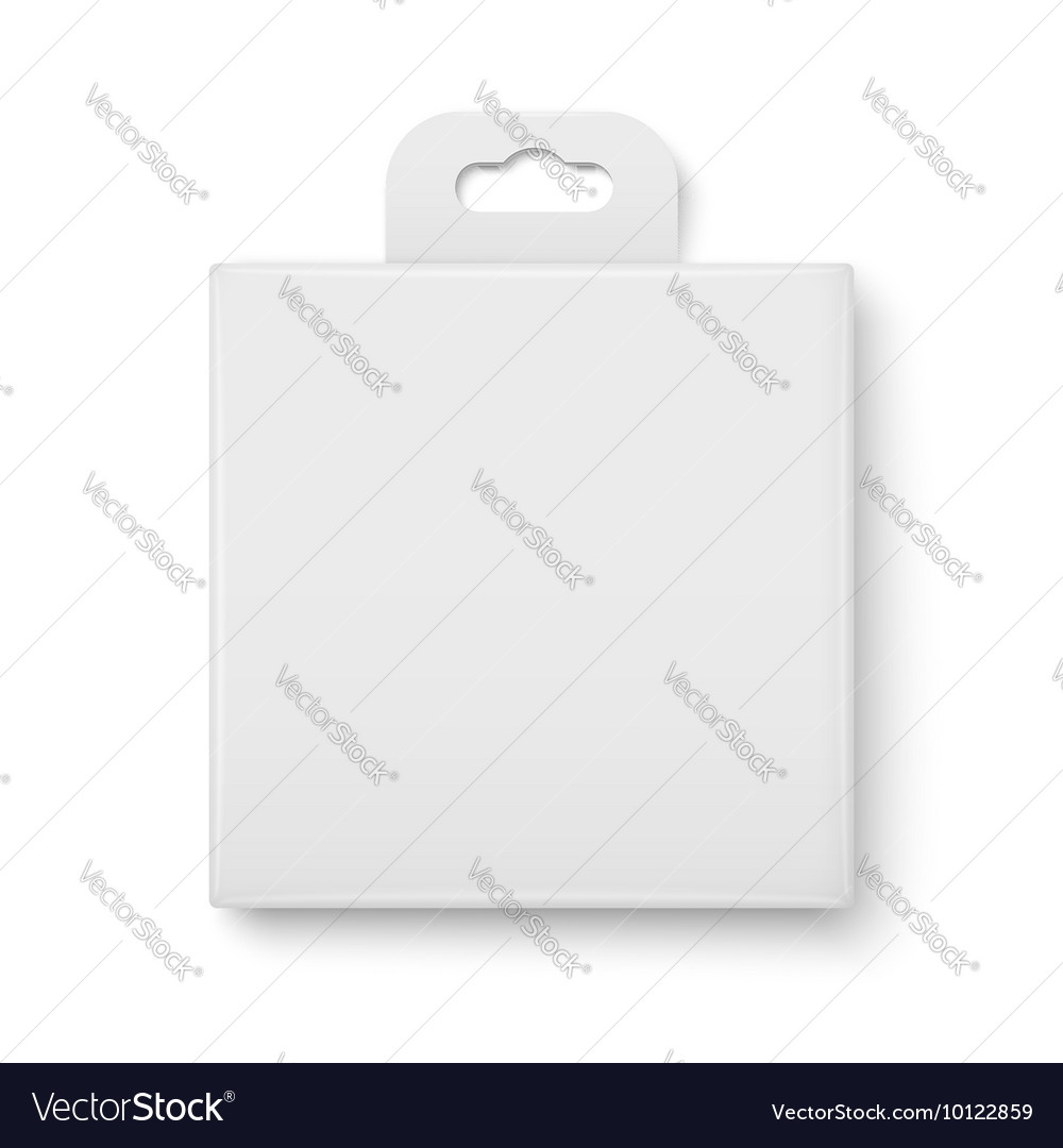 White paper packaging box