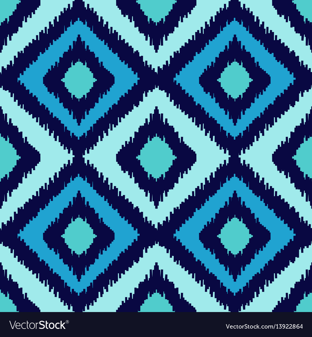 Ethnic squared seamless pattern