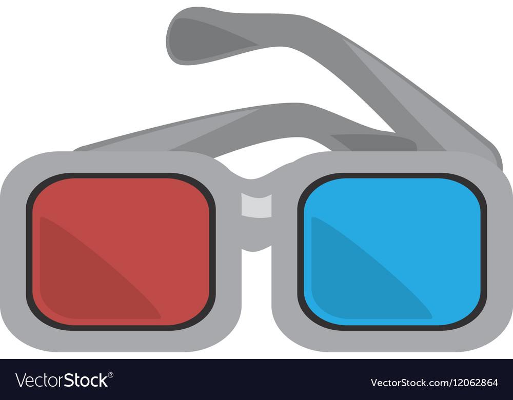 Glasses 3d movie cinema design