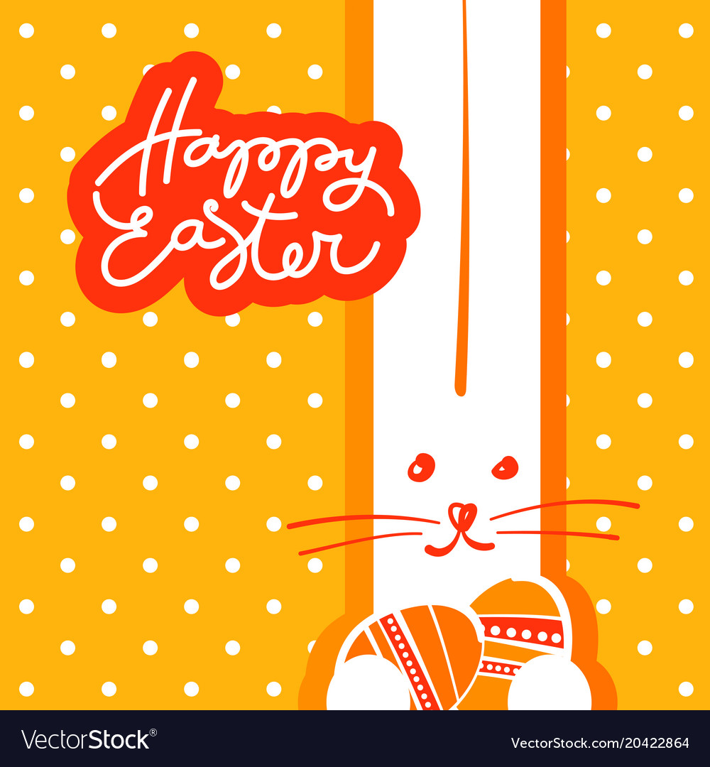 happy easter template royalty free vector image