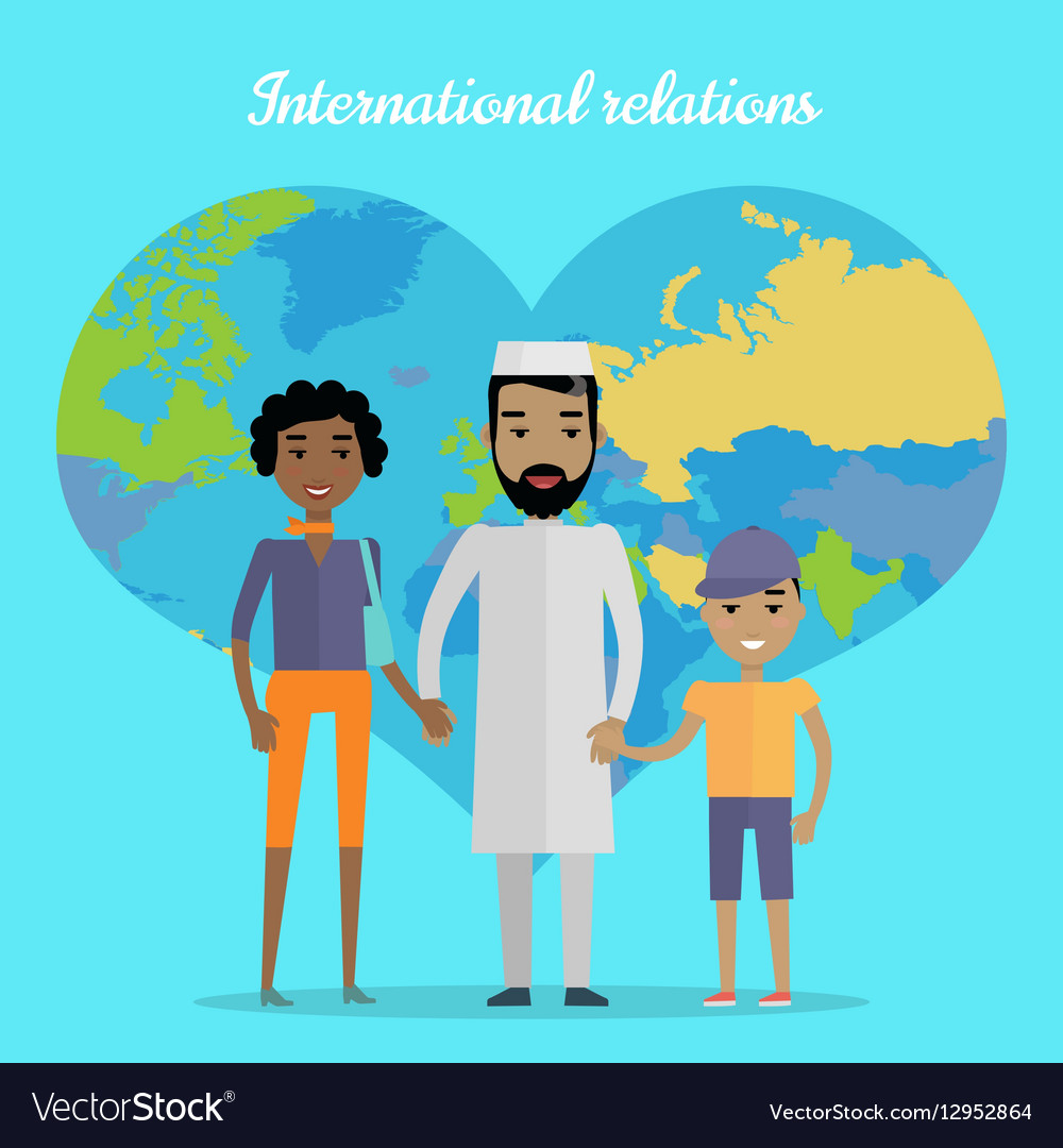 International Relations Flat Design Concept