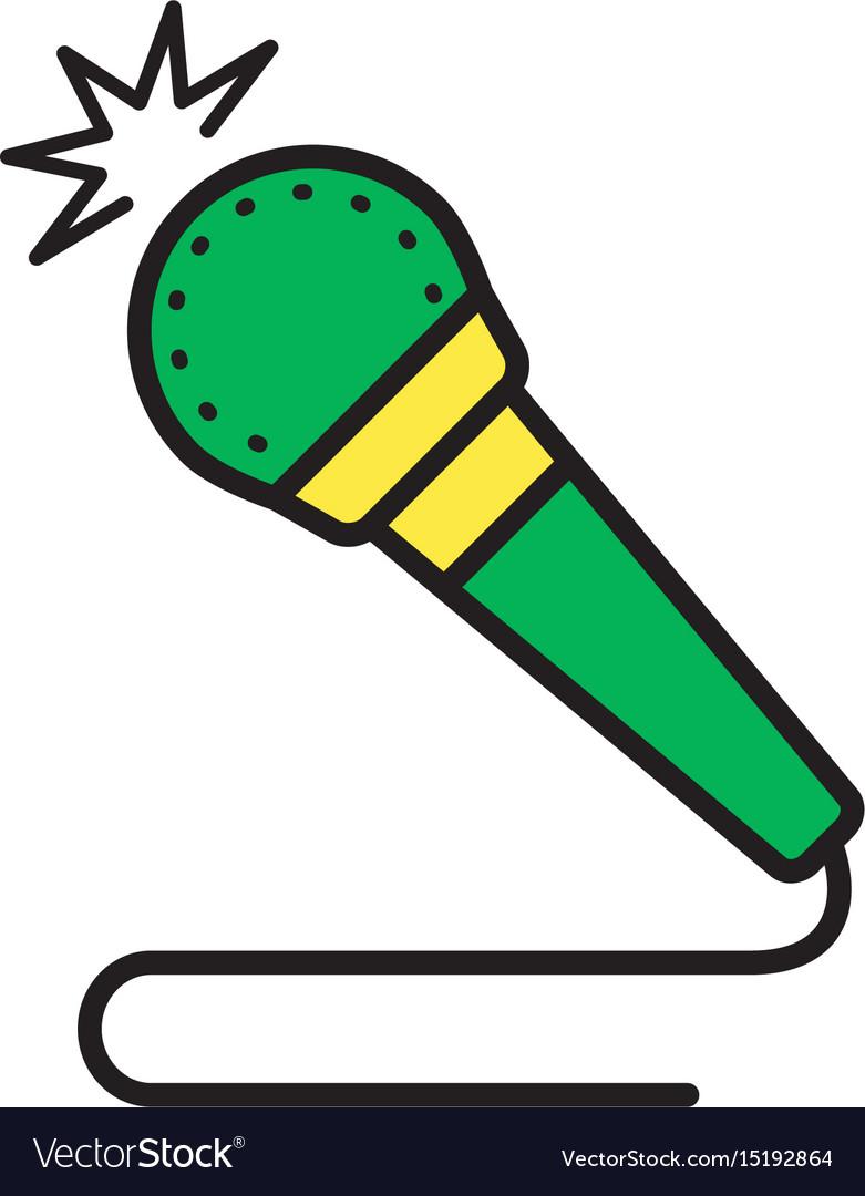 Microphone icon multimedia speaker symbol