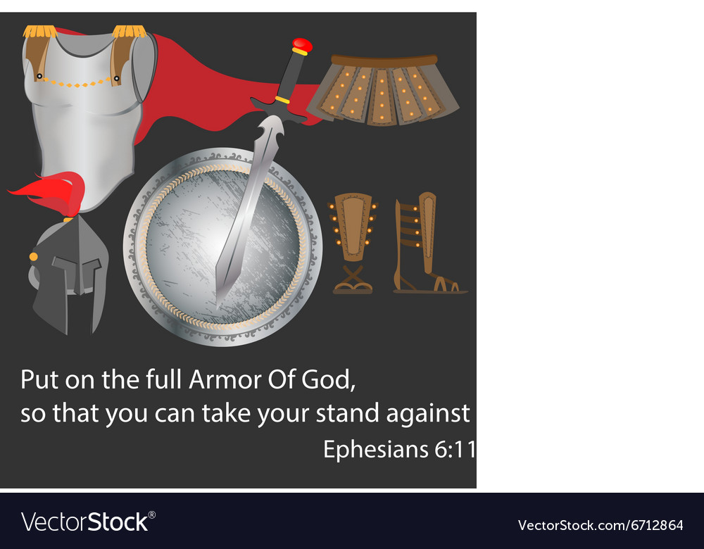The Armor of God Christianity Warrior Faith Brave vector image