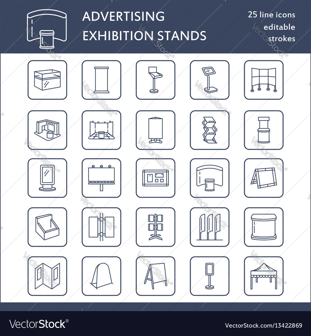 Advertising exhibition banner stands display line