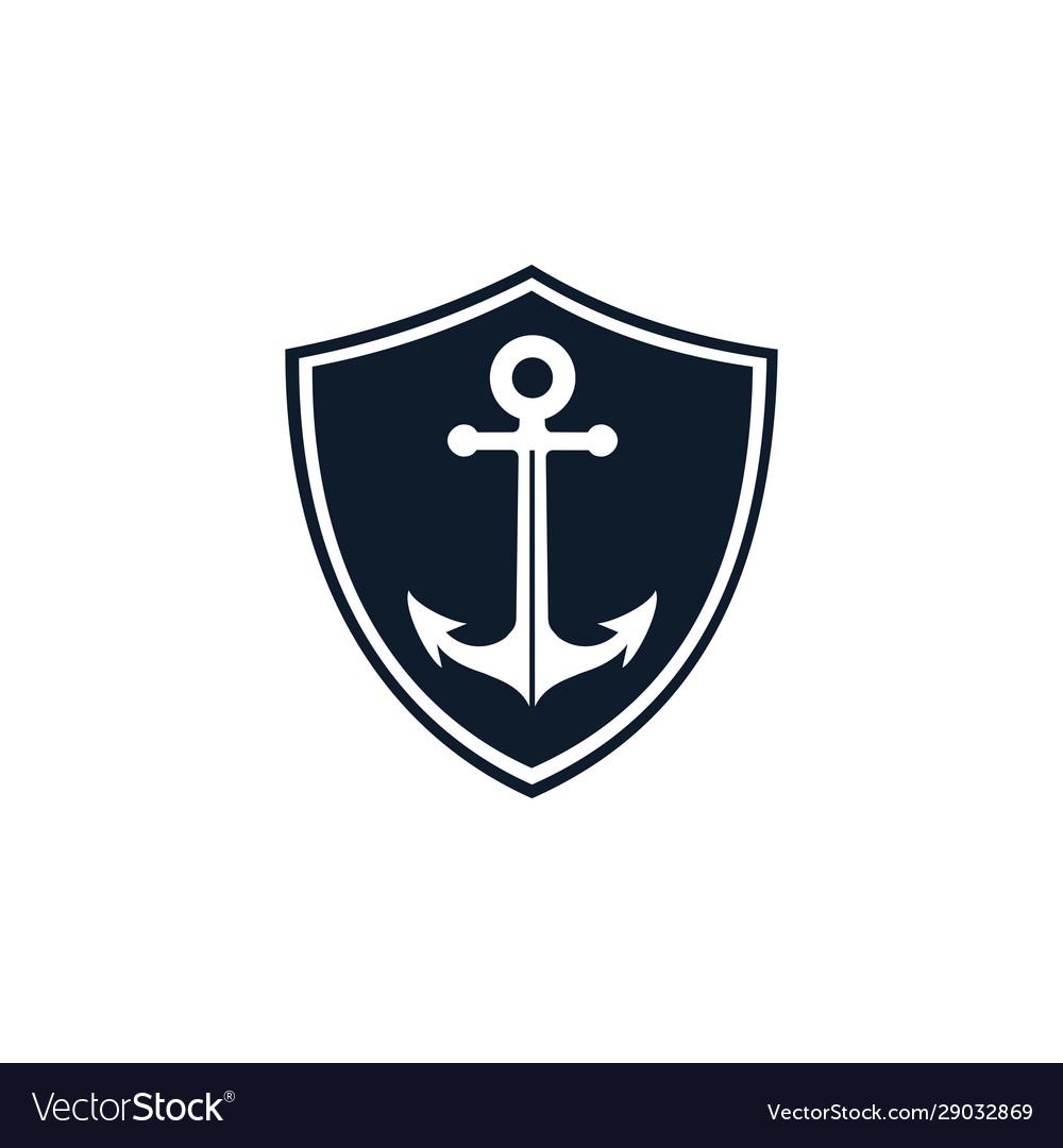 Anchor shield logo template