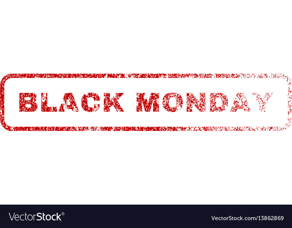 Black monday rubber stamp vector image