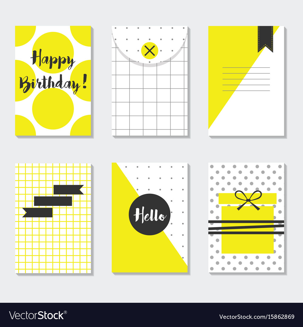 Cute assorted yellow and white trendy patterns