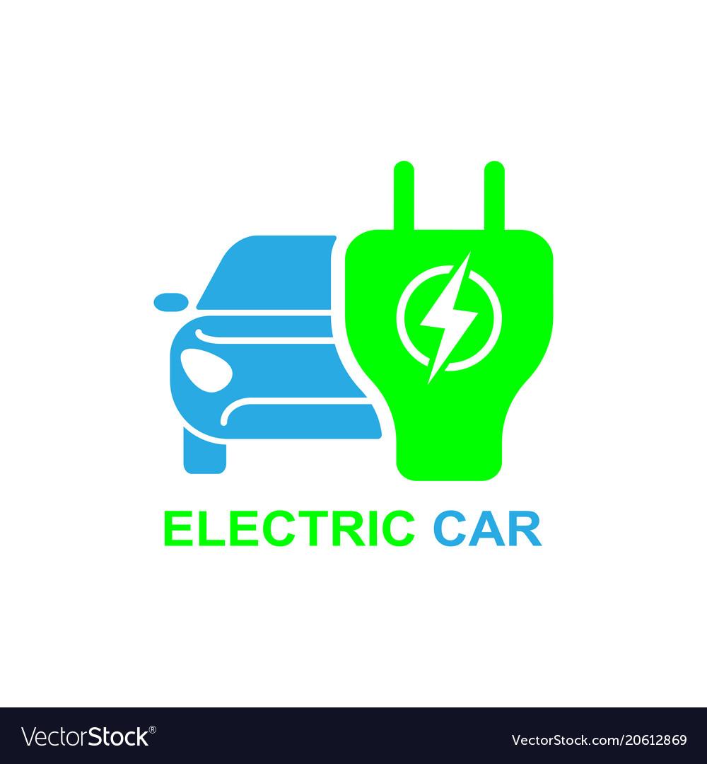 Electro car icon logo element