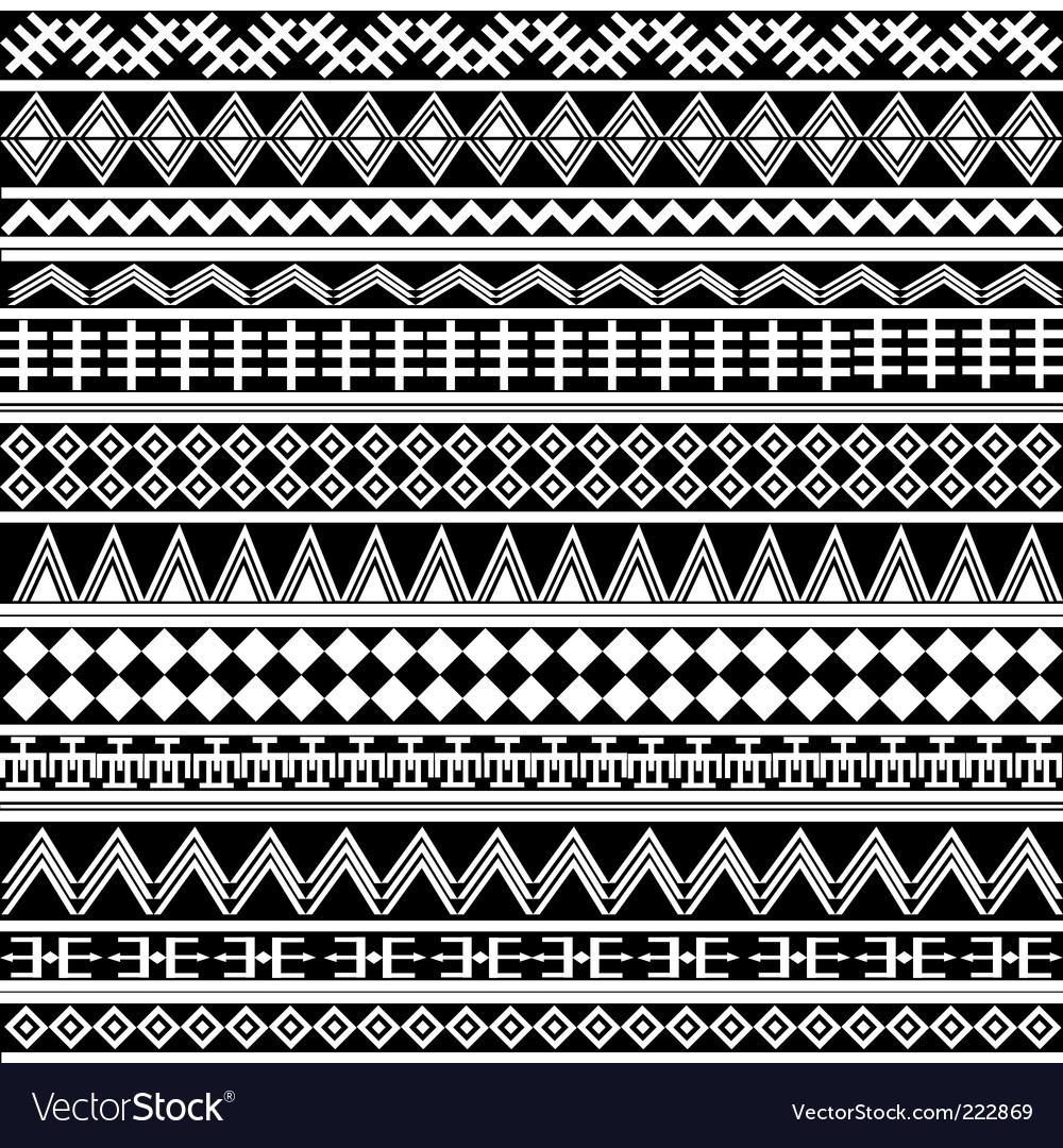 Geometrical shapes pattern vector image