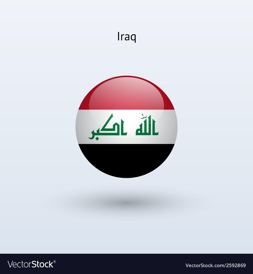 Iraq round flag