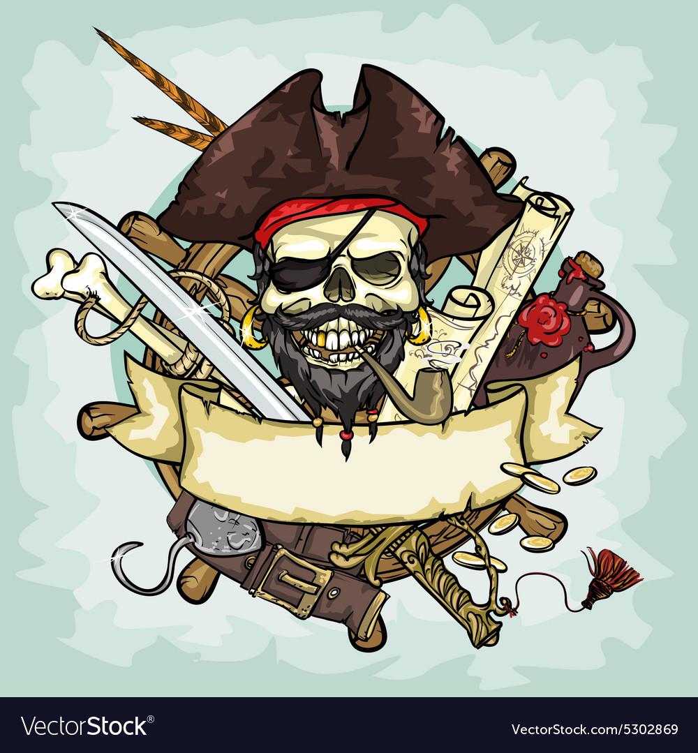Pirate Skull logo design