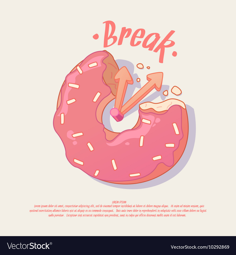 Poster for a cafe or office with donut
