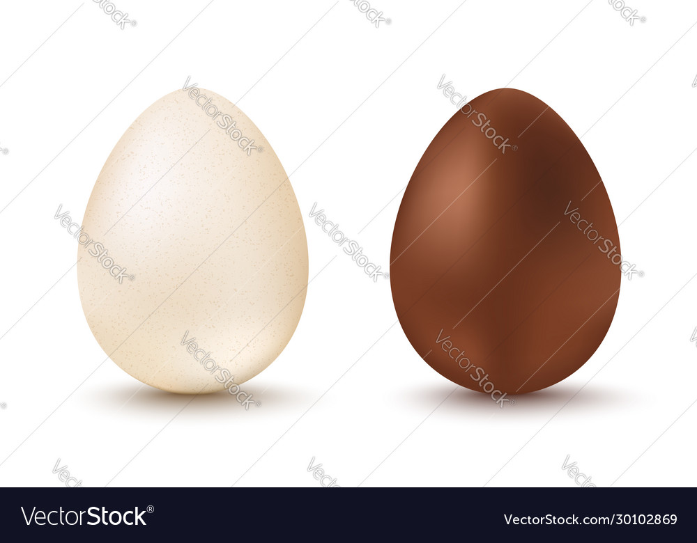 Set two eggs for easter