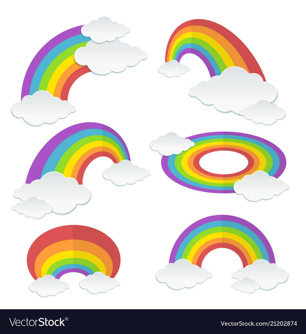 Cartoon rainbow set