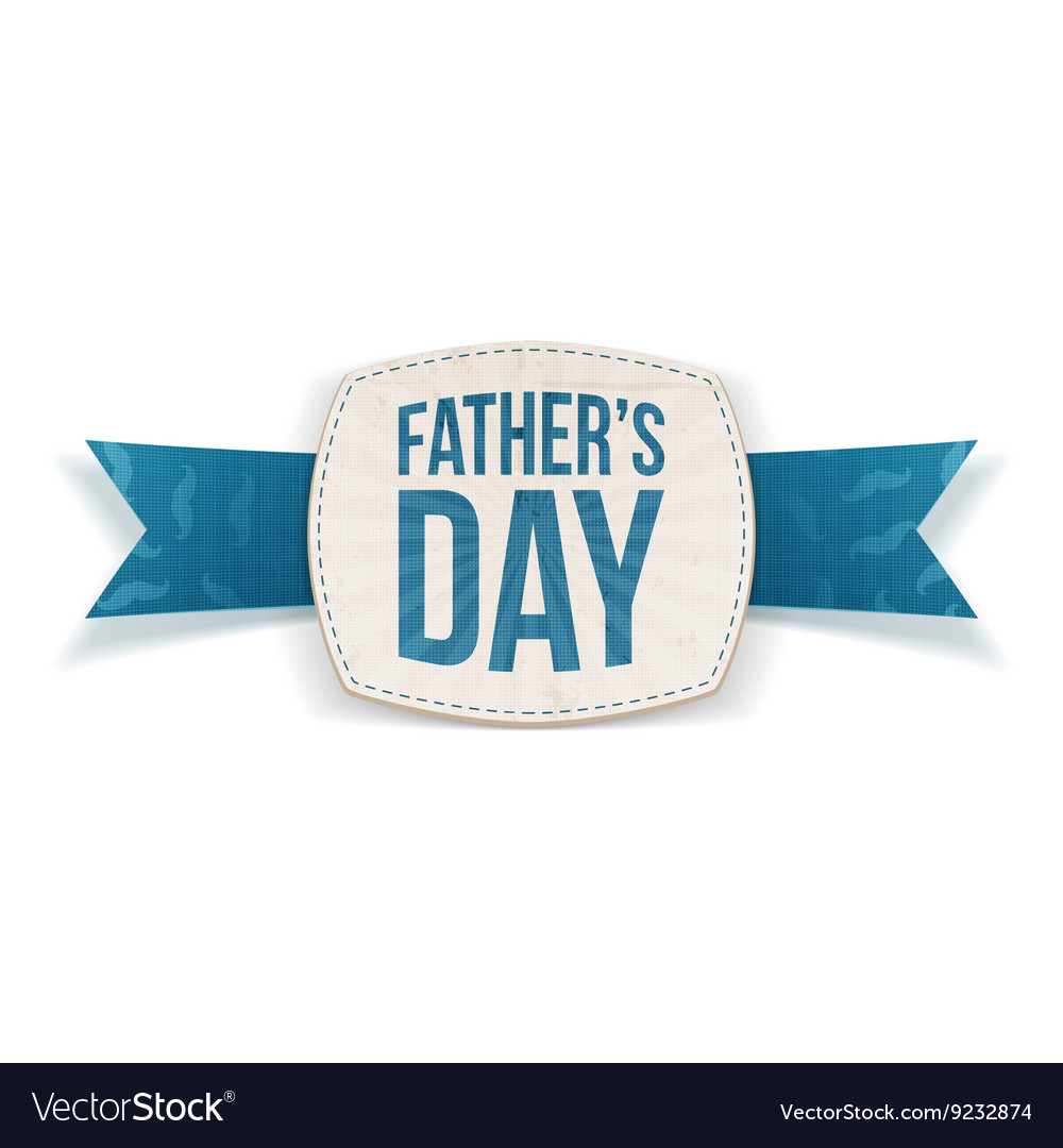 Fathers Day festive Emblem with greeting Ribbon
