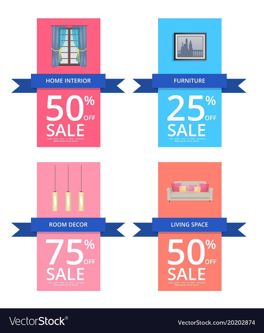 Home interior and room decor vector image
