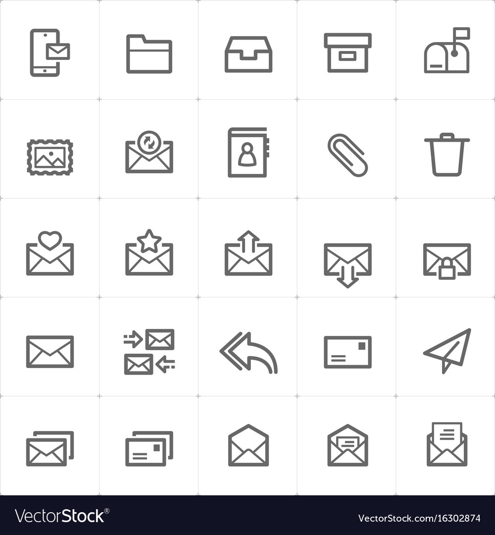 Icon set - email and letter