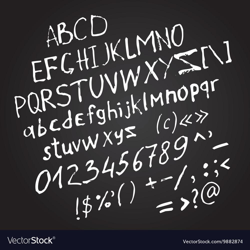 Invert hand drawn letters white brush fonts
