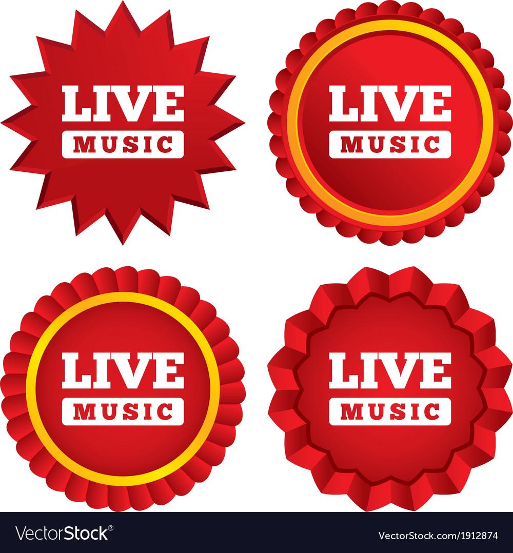 Live music sign icon Karaoke symbol
