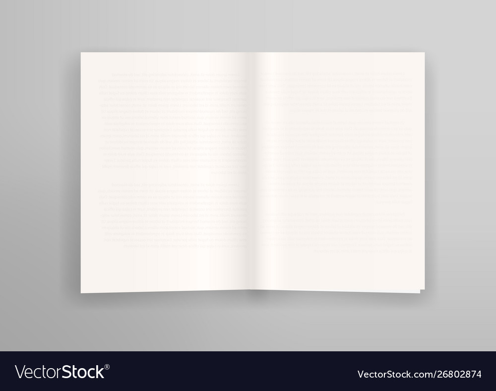 Open book with old thin transparent pages effect