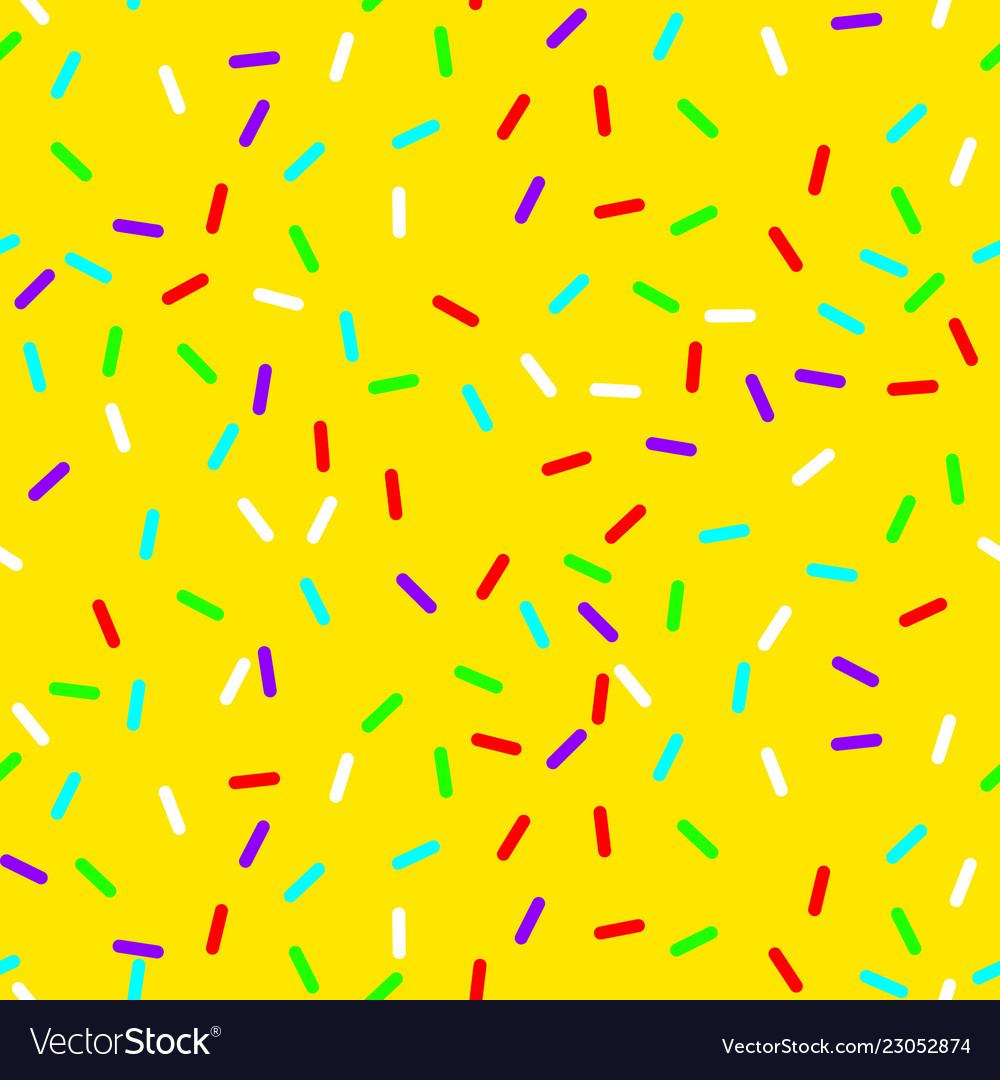 Seamless background with yellow donut glaze