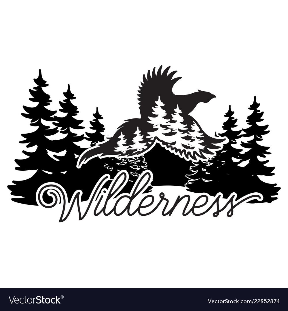 Stylized monochrome with pheasant