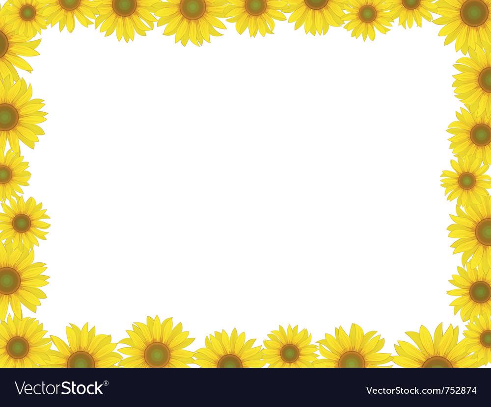 Magnificent Sunflower Frame Illustration - Picture Frame Ideas ...