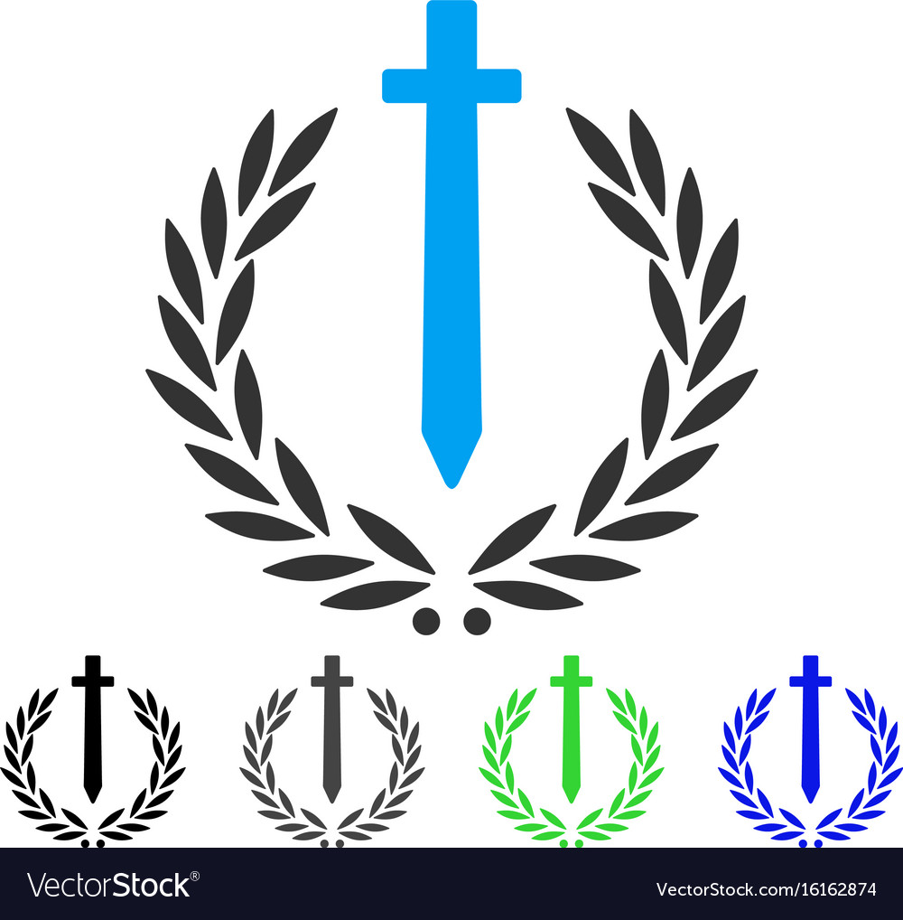 Sword honor embleme flat icon