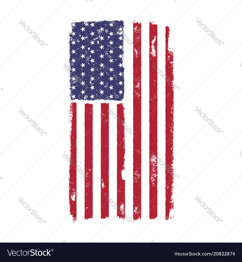 Usa american national flag in disstressed style