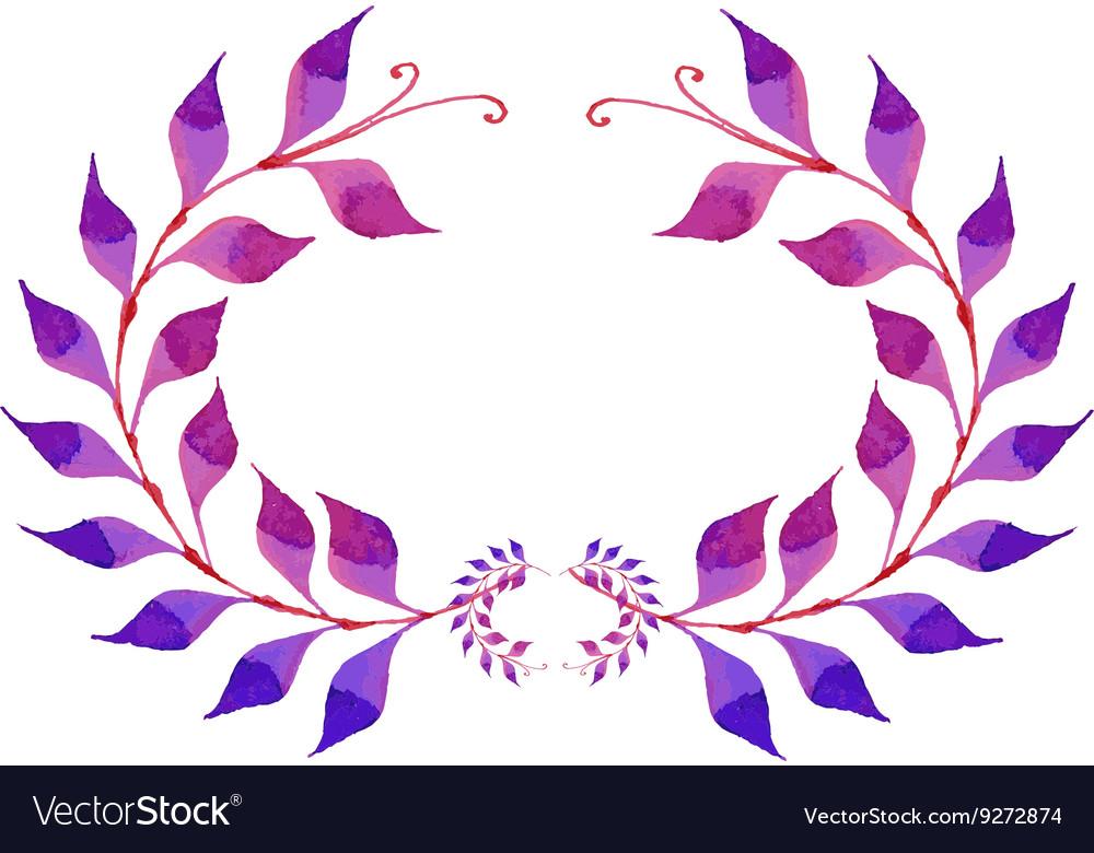 Watercolor purple plant